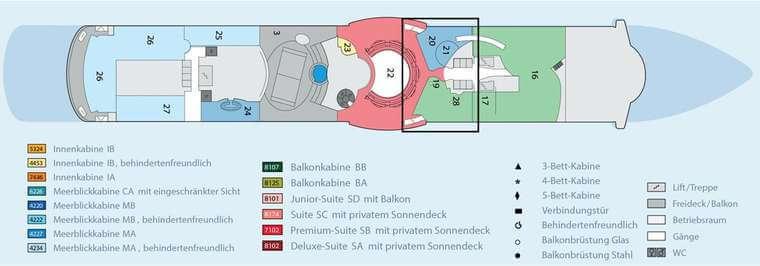 AIDAbella - Deck 11