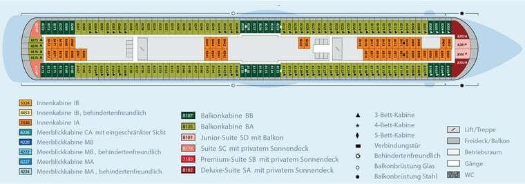 AIDAbella - Deck 8
