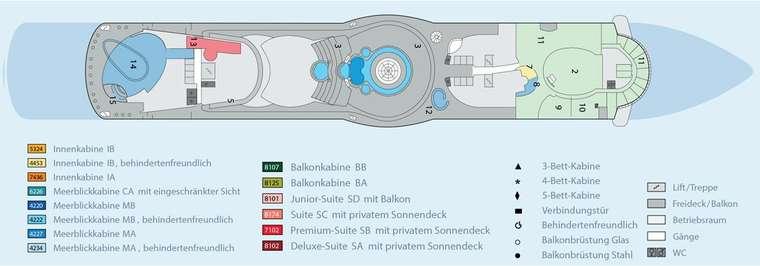 AIDAdiva - Deck 12