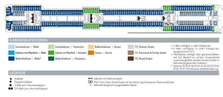 MSC Splendida - Deck 8