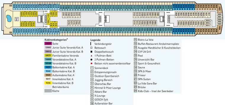 TUI Mein Schiff 1 - Deck 9 Koralle