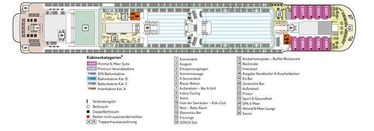TUI Mein Schiff 3 - Deck 14 Brise