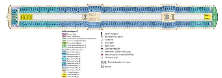 TUI Mein Schiff 3 - Deck 7 Hanse