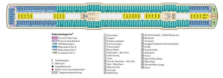 TUI Mein Schiff 3 - Deck 8 Muschel