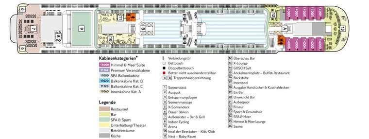 TUI Mein Schiff 4 - Deck 14 Horizont