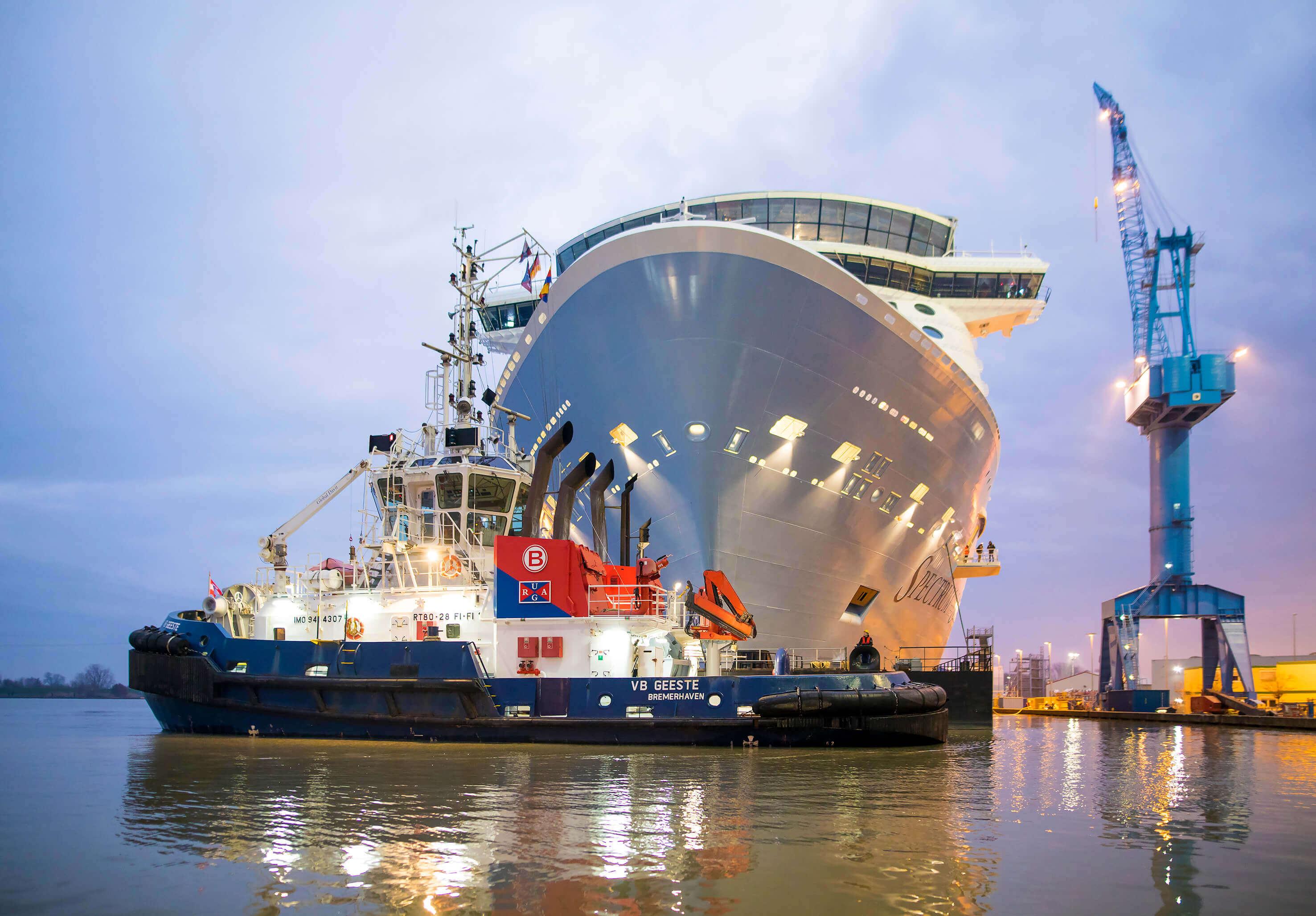 """Read more about the article """"Spectrum of the Seas"""" in Bremerhaven von Meyer Werft feierlich übergeben"""